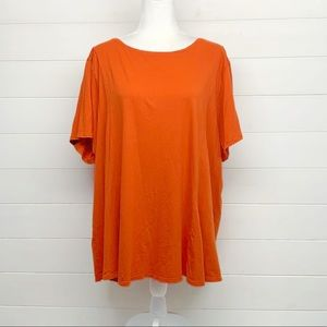 J. Jill Solid Orange Top